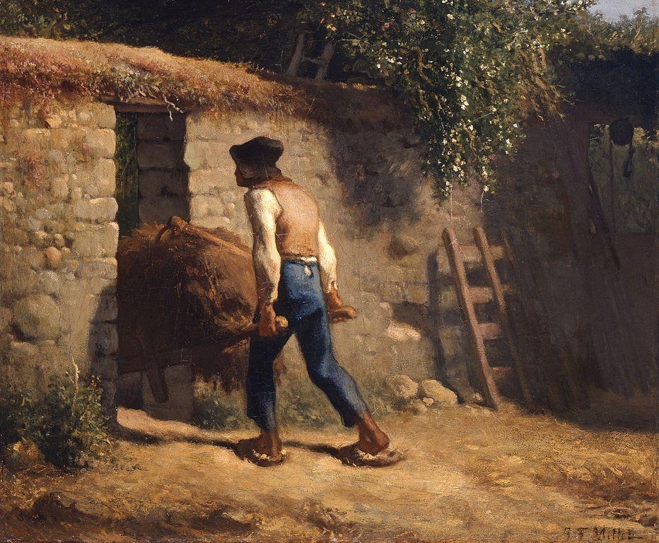 Jean-François Millet - Paysan avec brouette (1848-1852)