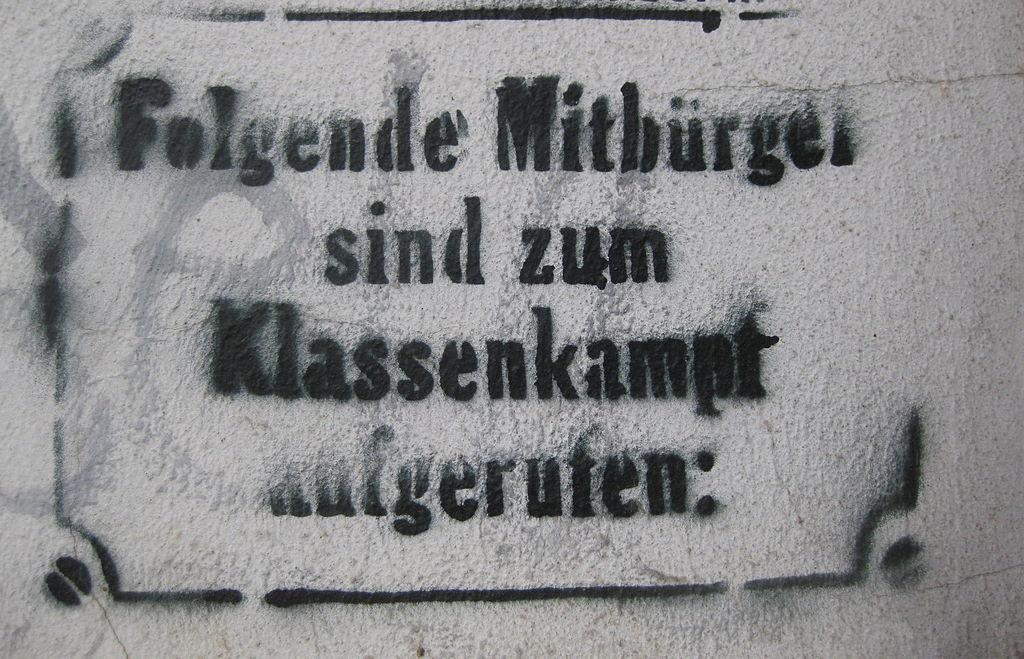 Hamburg-Ottensen Aufruf zum Klassenkampf