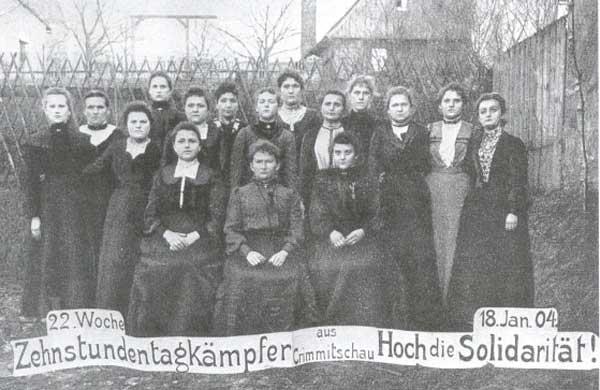 Solidaritätspostkarte zum Streik in Crimmitschau (1903/04)